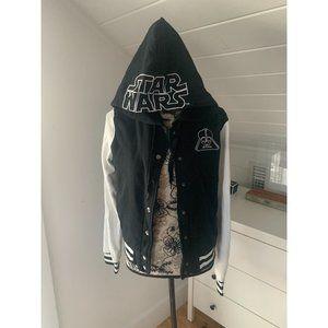 STAR WARS Darth Vader Varsity Hooded Jacket Sz M